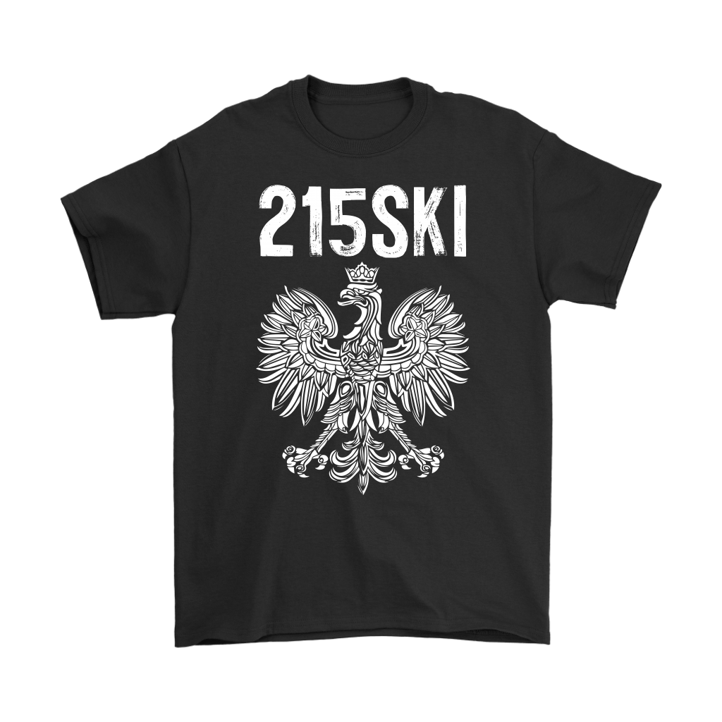 215SKI Pennsylvania Polish Pride - Gildan Mens T-Shirt / Black / S - Polish Shirt Store