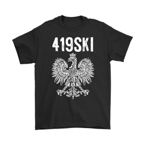 Toledo Ohio - 419 Area Code - Polish Pride - Gildan Mens T-Shirt / Black / S - Polish Shirt Store