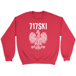 717SKI Pennsylvania Polish Pride - Crewneck Sweatshirt / Red / S - Polish Shirt Store