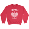 302SKI Delaware Polish Pride - Crewneck Sweatshirt / Red / S - Polish Shirt Store
