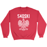 540SKI Virginia Polish Pride - Crewneck Sweatshirt / Red / S - Polish Shirt Store