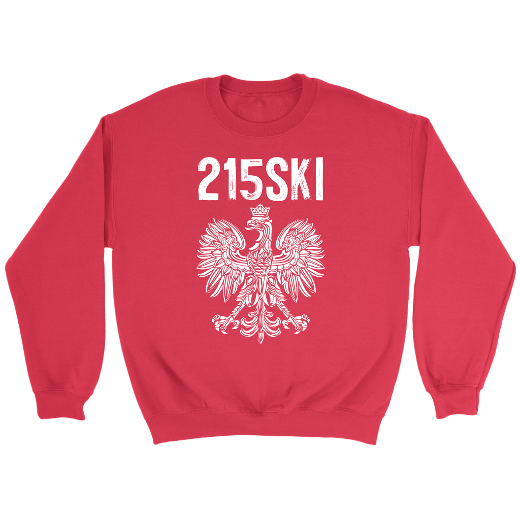 215SKI Pennsylvania Polish Pride - Crewneck Sweatshirt / Red / S - Polish Shirt Store