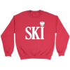 Polish Surnames Ski - Crewneck Sweatshirt / Red / S - Polish Shirt Store