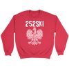 North Carolina Polish Pride - 252 Area Code - Crewneck Sweatshirt / Red / S - Polish Shirt Store