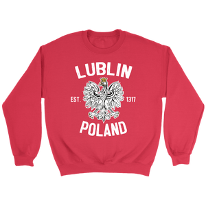 Lublin Poland - Crewneck Sweatshirt / Red / S - Polish Shirt Store