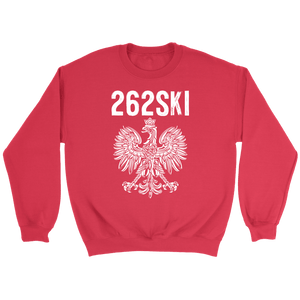 Wisconsin Polish Pride - 262 Area Code - Crewneck Sweatshirt / Red / S - Polish Shirt Store