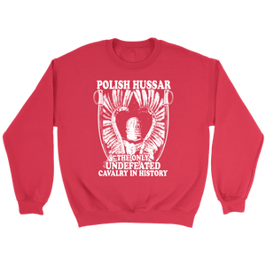 Polish Hussar - Crewneck Sweatshirt / Red / S - Polish Shirt Store