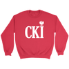 Polish Surname Ending With CKI - Crewneck Sweatshirt / Red / S - Polish Shirt Store