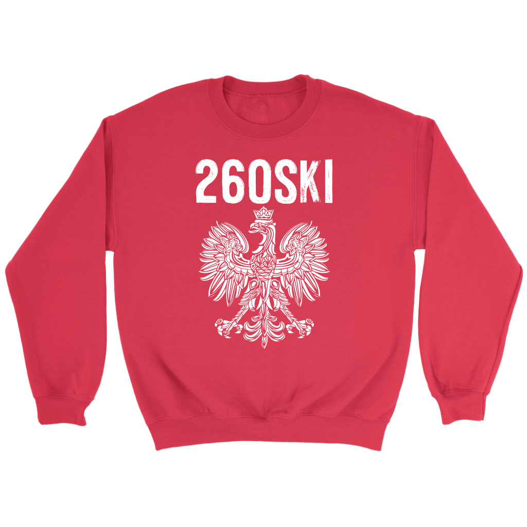 Indiana Polish Pride - 260 Area Code - Crewneck Sweatshirt / Red / S - Polish Shirt Store