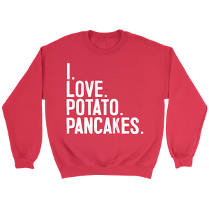 I Love Potato Pancakes - Crewneck Sweatshirt / Red / S - Polish Shirt Store