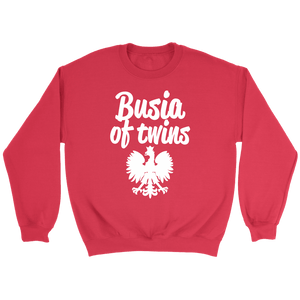 Busia of Twins Gift - Crewneck Sweatshirt / Red / S - Polish Shirt Store
