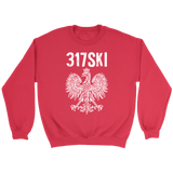 317SKI Indiana Polish Pride - Crewneck Sweatshirt / Red / S - Polish Shirt Store