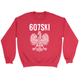 Binghamton NY - 607 Area Code - Polish Pride - Crewneck Sweatshirt / Red / S - Polish Shirt Store