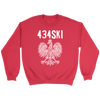 434SKI Virginia Polish Pride - Crewneck Sweatshirt / Red / S - Polish Shirt Store