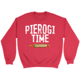 Pierogi Time T-Shirt - Crewneck Sweatshirt / Red / S - Polish Shirt Store