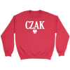 Polish Surname Ending in CZAK - Crewneck Sweatshirt / Red / S - Polish Shirt Store