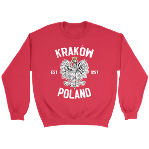 Krakow Poland - Crewneck Sweatshirt / Red / S - Polish Shirt Store