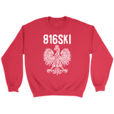 816SKI Missouri Polish Pride - Crewneck Sweatshirt / Red / S - Polish Shirt Store