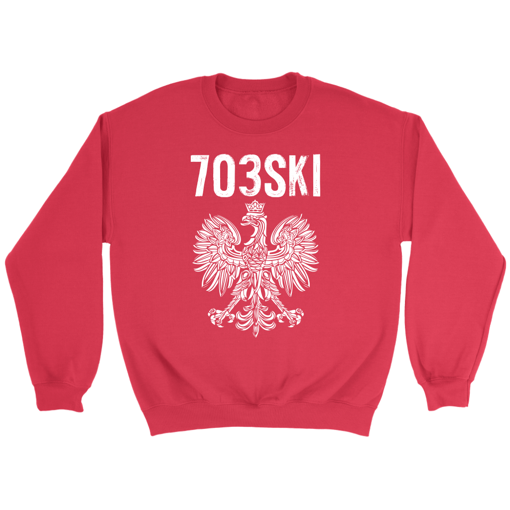 703SKI Virginia Polish Pride - Crewneck Sweatshirt / Red / S - Polish Shirt Store