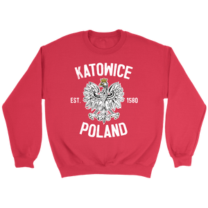 Katowice Poland - Crewneck Sweatshirt / Red / S - Polish Shirt Store