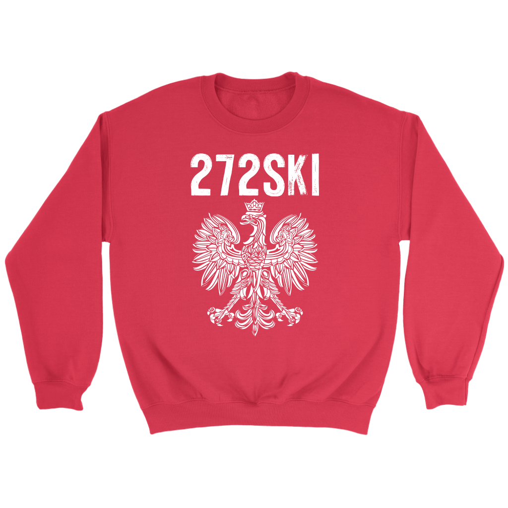 Scranton Pennsylvania - 272 Area Code - Crewneck Sweatshirt / Red / S - Polish Shirt Store