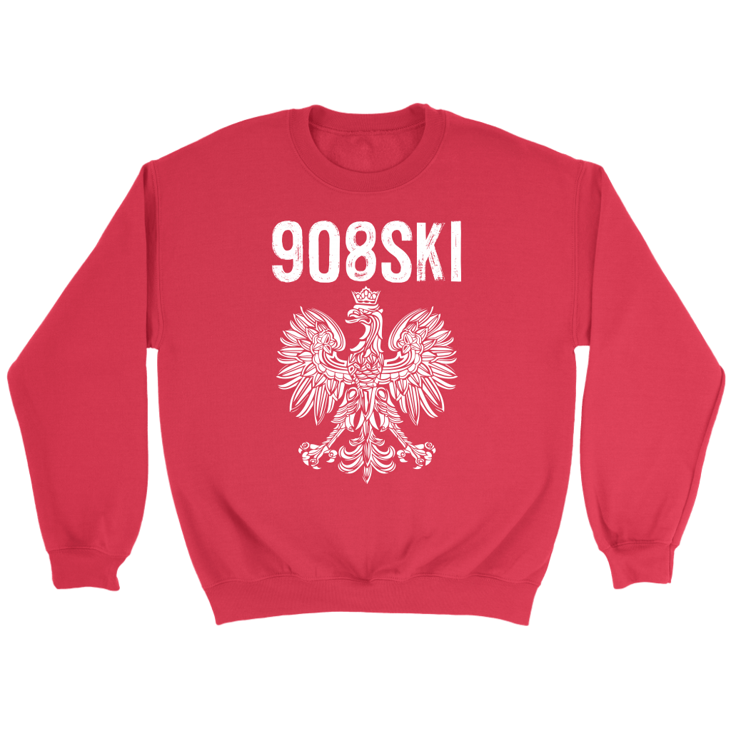 908SKI Pennsylvania Polish Pride - Crewneck Sweatshirt / Red / S - Polish Shirt Store