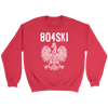 804SKI Virginia Polish Pride - Crewneck Sweatshirt / Red / S - Polish Shirt Store