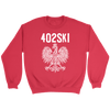 402SKI Polish Pride - Crewneck Sweatshirt / Red / S - Polish Shirt Store