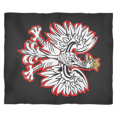Polish Eagle Fleece Blanket - Medium Fleece Blanket - Polish Shirt Store