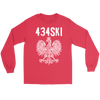 434SKI Virginia Polish Pride - Gildan Long Sleeve Tee / Red / S - Polish Shirt Store