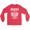 804SKI Virginia Polish Pride - Gildan Long Sleeve Tee / Red / S - Polish Shirt Store