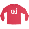 Polish Surname Ending With CKI - Gildan Long Sleeve Tee / Red / S - Polish Shirt Store