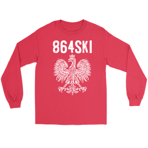 864SKI South Carolina Polish Pride - Gildan Long Sleeve Tee / Red / S - Polish Shirt Store