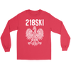 Minnesota - 218 Area Code - 218SKI - Gildan Long Sleeve Tee / Red / S - Polish Shirt Store