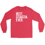 Best Dziadzia Ever, Dziadzia Gift - Gildan Long Sleeve Tee / Red / S - Polish Shirt Store