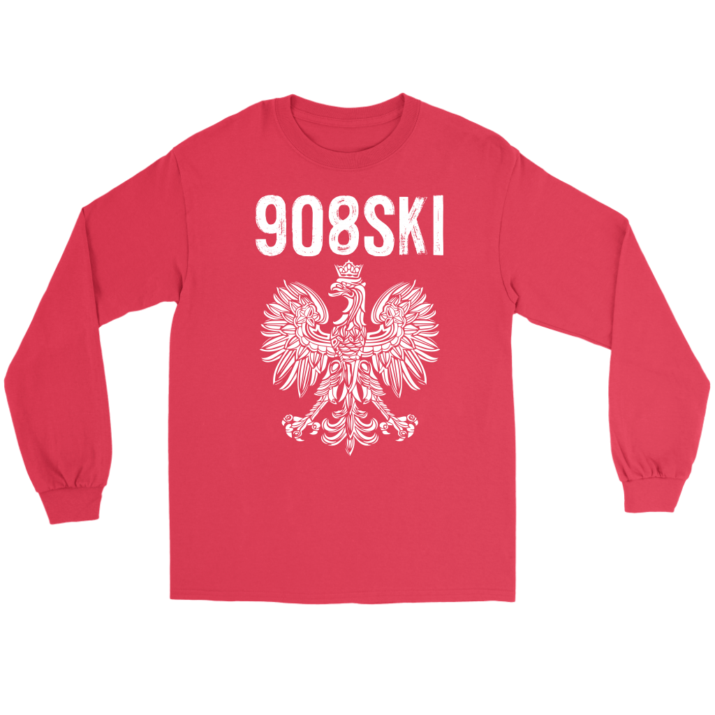 908SKI Pennsylvania Polish Pride - Gildan Long Sleeve Tee / Red / S - Polish Shirt Store