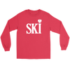 Polish Surnames Ski - Gildan Long Sleeve Tee / Red / S - Polish Shirt Store
