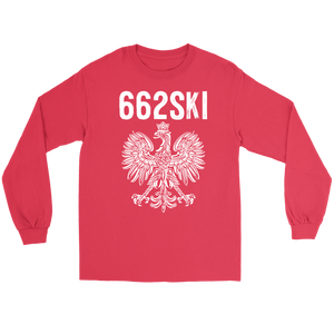 662SKI Mississippi Polish Pride - Gildan Long Sleeve Tee / Red / S - Polish Shirt Store