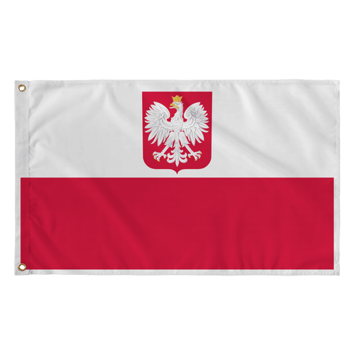 Republic of Poland Coat Of Arms Flag - Polish Shirt Store