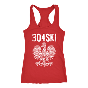 West Virginia - 304 Area Code - Next Level Racerback Tank / Red / XS - Polish Shirt Store