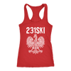Michigan Polish Pride Tank Tops - Area Code 231 - Next Level Racerback Tank / Red / XS - Polish Shirt Store