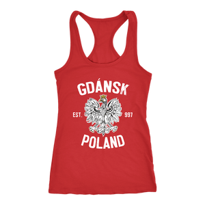 Gdansk Poland - Next Level Racerback Tank / Red / XS - Polish Shirt Store