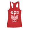 402SKI Polish Pride - Next Level Racerback Tank / Red / XS - Polish Shirt Store