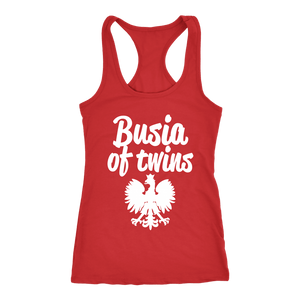 Busia of Twins Gift - Next Level Racerback Tank / Red / XS - Polish Shirt Store