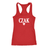 Polish Surname Ending in CZAK - Next Level Racerback Tank / Red / XS - Polish Shirt Store