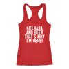 Kielbasa And Beer That's Why I'm Here - Next Level Racerback Tank / Red / XS - Polish Shirt Store