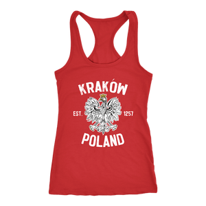 Krakow Poland - Next Level Racerback Tank / Red / XS - Polish Shirt Store