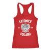 Katowice Poland - Next Level Racerback Tank / Red / XS - Polish Shirt Store