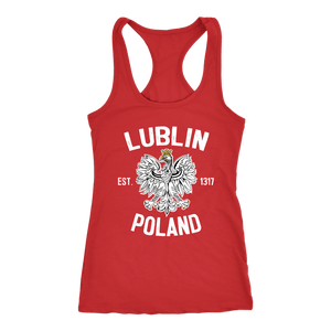 Lublin Poland - Next Level Racerback Tank / Red / XS - Polish Shirt Store