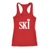 Polish Surnames Ski - Next Level Racerback Tank / Red / XS - Polish Shirt Store